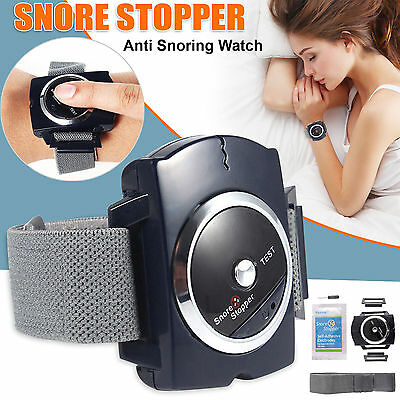 Anti Snore Stopper Wristband Device Intelligent Infrared Stop Snoring Aid UK