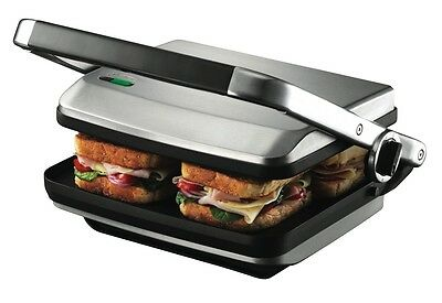 NEW Sunbeam Cafe Press Sandwich Maker 2400W 4 Slice GR8450B Grill