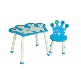 Children's Kids Boys Blue Prince Table and Chair Set Bedroom Playroom Furniture