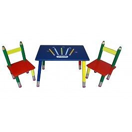 Children's Kids Pencil Design Table and Chairs Set Bedroom Playroom Furniture