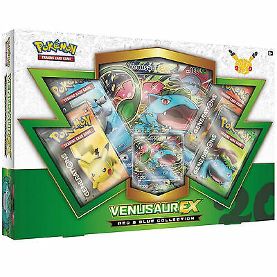 Pokemon Cards: Venusaur Ex Red & Blue Collection Box: Generations Booster Packs