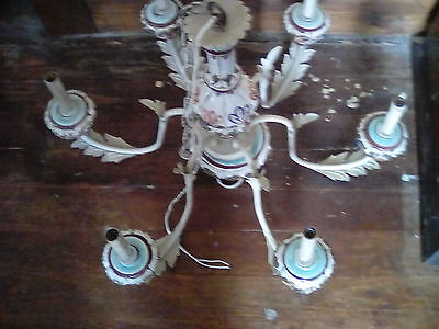 Vintage Tole Chandelier~Made in Italy