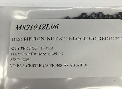 MS21086L4 NAS1067A4 NUT SHORT LUG 1//4-28 DRY FILM LUBE PACKAGE  OF 25//EA