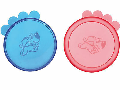 Pack Of 2 Dog Cat large Size Pet Can Food Lids(24552) 10.5cm • EUR 2,57