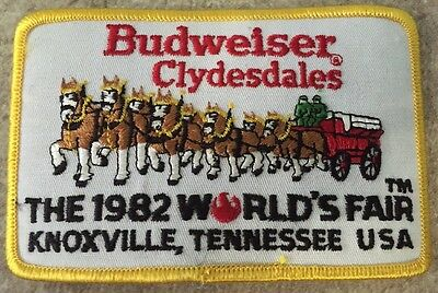 Vintage Budweiser Clydesdales 1982 World's Fair Knoxville,tennessee Usa Patch