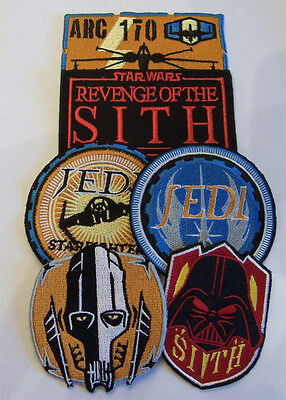 Star Wars Sew On Embroidered Patches Set of 6 Gift Set