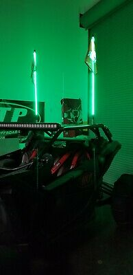 Tribal Whips 4' Nightstalker LED lighted Whip 5 color choices