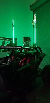 Tribal Whips 4' Nightstalker LED lighted Whip 6 color choices
