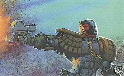 Judge Dredd Oil Painting 40x12 NOT print or poster Framing Available 2000AD