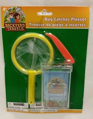 New Backyard Travels Bug Catching Kit Bug Box with Air Holes Tweezers & Net