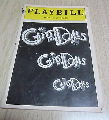 "Collectible Theater Play Bill ""GUYS & DOLLS"" Martin Beck Theater March 1993 NICE"