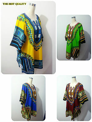 Dashiki African Festival Hippie Poncho Festival Unisex Poncho Mexican UK Seller
