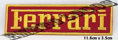 Ferrari Logo Embroidered Iron On Sew On  Patch - Badge Logo