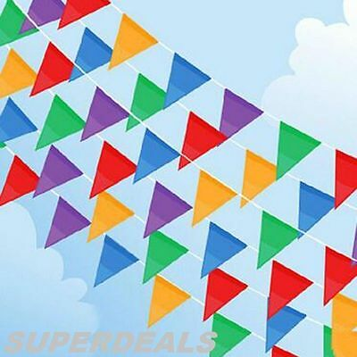 200 Feet Multi Colour Bunting Banner Flags Pennant Party Decoration Outdoor