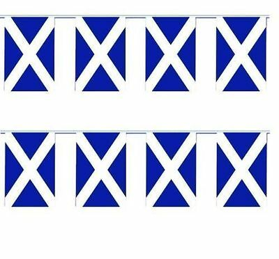 RUGBY 6 NATIONS 16feet SCOTLAND NAVY BLUE ST ANDREWS SALTIIRE CROSS FLAG BUNTING