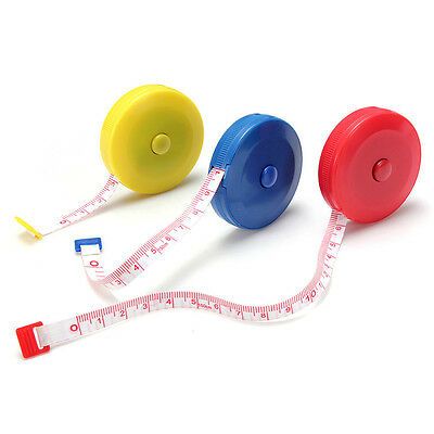Mini Retractable 150CM Sewing Tailor Cloth Soft Flat Tape Body Measure Ruler