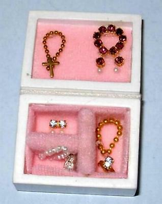 Filled Jewelry Box Doll House Furniture  Miniatures