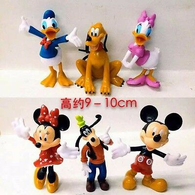 NEWEST Mickey Mouse Minnie Mouse Donald Duck Goofy Clubhouse Figures 6 pcs SET