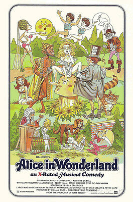 Alice in Wonderland Retro Adult Movie Poster Poster Print, 24x36