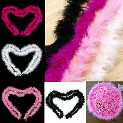 2M Feather Boa Strip Fluffy Craft Costume Dressup Wedding Party Flower Decor New