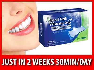 Advanced Teeth Whitening Strips 14-Days Home Treatment Test Sample Available