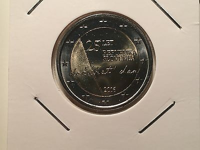 2 Euro Slovenie 2016 25 Ans Independance Republique Commemorative Neuve