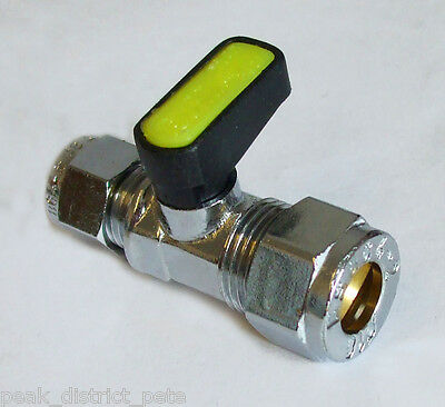 """Gas or fluid ball valve 10m x 8mm (5/16"""") compression        9622"""