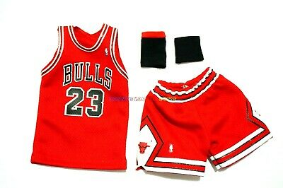 New 1/6 NBA Chicago Bulls 23 Michael Jordan Away Jersey Red For Enterbay Figures