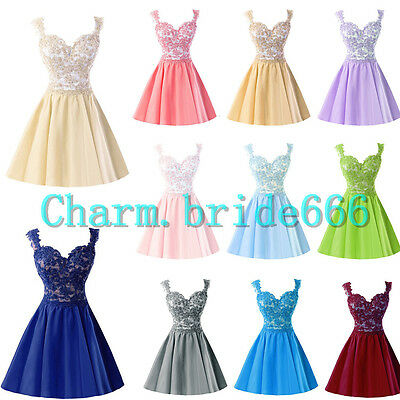 Stock Short Formal Wedding Evening Party Ball Gown Prom Bridesmaid Dresses 6-20