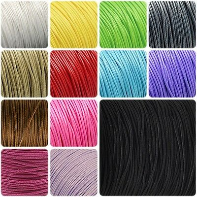 10 Meters 1mm or 1.5mm Wax Cotton Cord DIY Jewellery Making, Crafts
