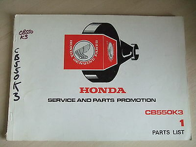Genuine HONDA CB550K3 Parts Book List 1340432