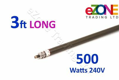 """Universal Dry / Wet Heating Element  Bend-To-Shape 8mm Rod, 36"""" 3ft, 500W 240V"""