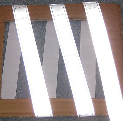 """Silver gloss sew on REFLECTIVE TAPE PVC 3'x1"""""""