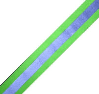 """Elastic Silver  Lime sew on REFLECTIVE TAPE 1 yardX2"""""""