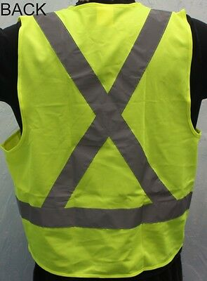 Size L New CSA Z96 Yellow Reflective Safety vest High Visibility
