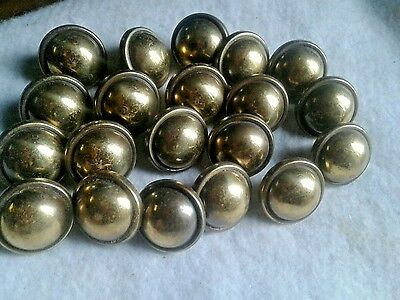 20 Vintage Distressed Brass Desk Dresser Drawer Knobs 1 1/4""