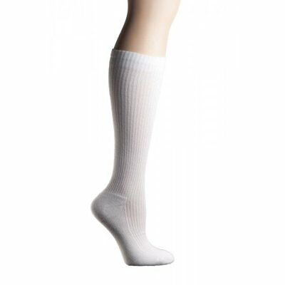 1 pair COMPRESSION SOCKS +MD Ribbed Cotton Cushioned 8-15mm HG men women