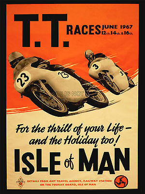 Isle Of Man Tt Motorcycle Race Poster 5 (Sizes-A5-A4-A3-A2) + Surprise A3 Poster