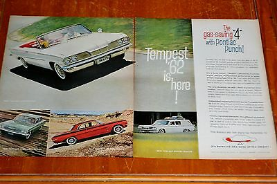 1962 Pontiac Tempest Convertible Coupe Wagon Ad - Vintage 60S American Classic