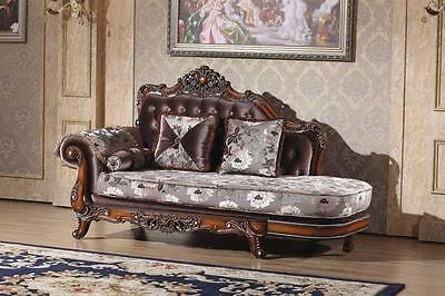 Meridian 637 Living Room Chaise Hand Crafted Brown Traditional Style
