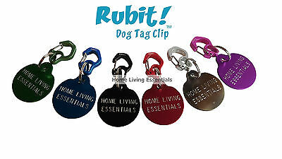 Rubit! Rubit Dog Tag Quick Release Clip ID - Tag Holder for Dog Collar - Small