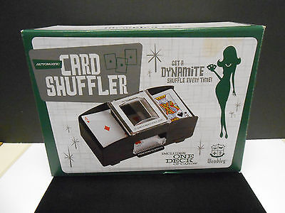 WEMBLEY AUTOMATIC CARD SHUFFLER, Includes 1 Deck of new Cards