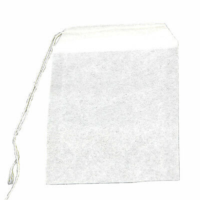 50Pcs Teabags String Heat Seal Filter Paper Herb Loose Tea Bag White ED