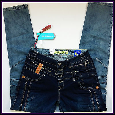 New Cipo & Baxx Cd244 A Men's Rare Jeans Stone Wash 31/32 Regular Fit Straight
