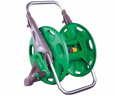 2 IN 1 Hose Reel Garden Watering VERSATILE Wall Mounted Floor Standing Mountable