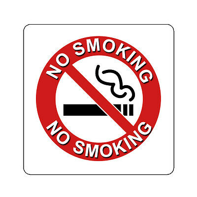 No Smoking Prohibited Decal Sticker Sign Many Sizes 4 Inch And Up