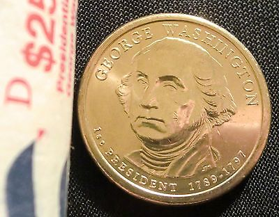 2007-D $1 George Washington Presidential Dollar BU