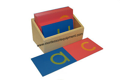 Montessori Language Material - Sandpaper Letters, Lower Case Print -New