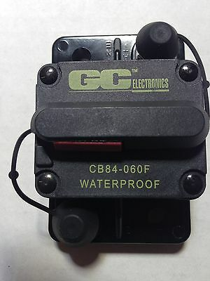 GC Electronics DC Circuit Breaker 60 Amp Surface 184060F CB84-060F