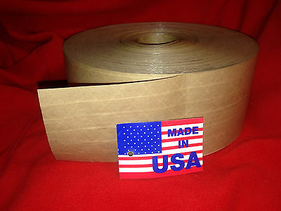 "10 Rolls of 3"" X 450ft HD Reinforced Gummed Tape Water-Activated Pkg.made in USA"